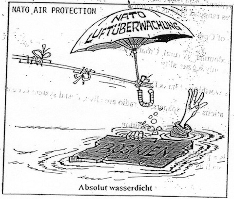 NATO air protection: Absolutely watertight.