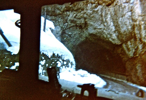 Entering the Vares ice tunnel.