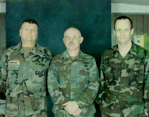 SSG Gene Jakubenas, who I served with in Kurdistan, and SFC Tony Libassi, who was our team sergeant in Bosnia. (March, 1997)