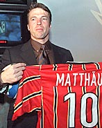 Matthäus displays shirt with Stillitano's IQ