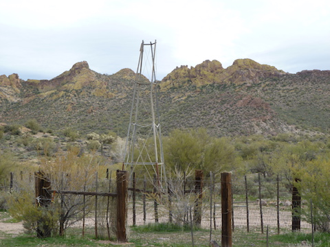The windmill at First Water Ranch.