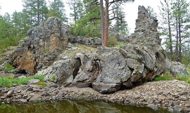 "Famous ""folded"" rock at Pomeroy Tanks."