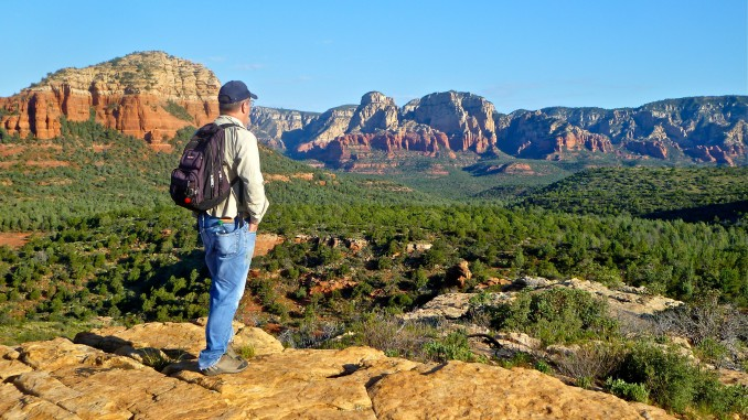 Looking out over Soldiers Pass from Brins Mesa.