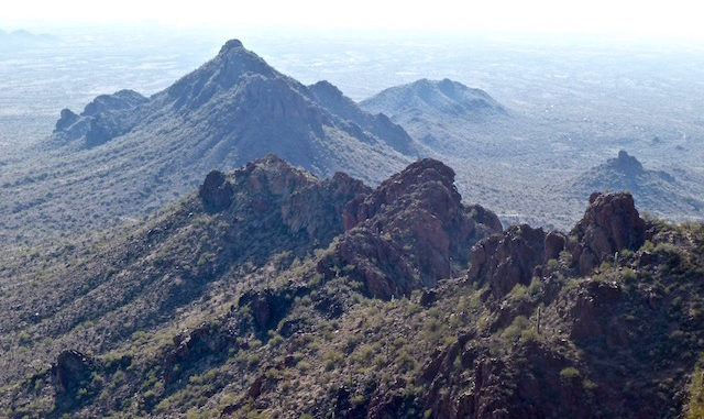 Looking south from Vulture Peak's saddle.