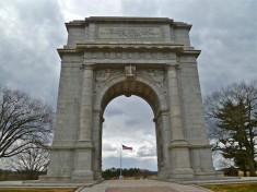 The Memorial Arch is dedicated to the officers and private soldiers of the Continental Army, December 19, 1777 to June 19, 1778.