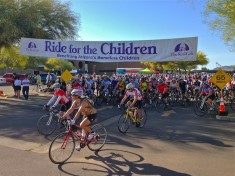 Ride for the Children begins.