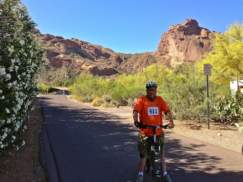 The ritziest neighborhoods on the ride are at the base of Camelback Mountain.