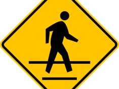 Yellow Cross Walk Sign