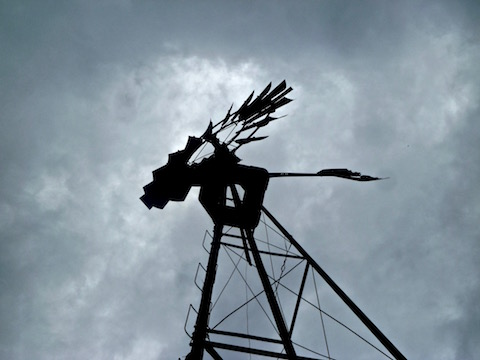 The Telegraph Spring windmill was making spooky sounds.