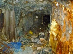 Upper level of the Climax Mine.