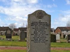 The grave of William Angus, VC, his wife and daughter.