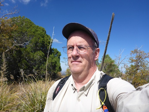 Me on the summit of the appropriately named Bald Mountain.