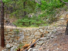 A portion of rock wall.