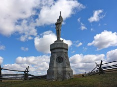 Antietam: 132nd Pennsylvania Regiment Monument at Bloody Lane.