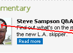 The Mind of Steve Sampson is empty