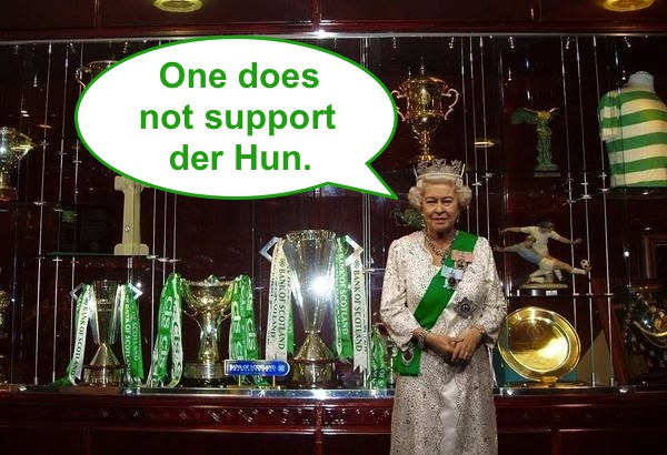 Liz in the Celtic Trophy Room