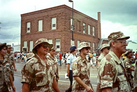 4th of July parade in Green Bay. Monfort, Demerath and Dutch. Pat Monfort and I did the EOD in Kuwait City.
