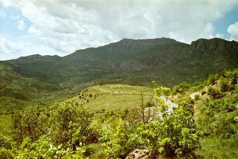 From A-Team's position, looking northwest at base camp.