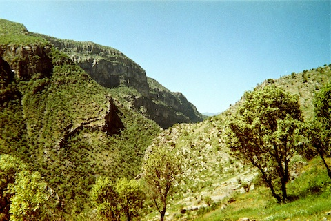 Kurdistan has some seriously rugged terrain. Our patrol climbed the hill to the right.