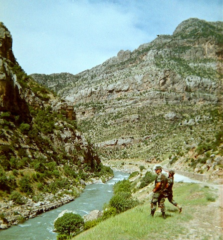 CPT Scholz on the river north from Chameju.