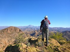 Looking at fourth summit of Little Four Peaks.