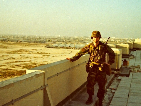 2LT McMurry on Khobar Towers roof.