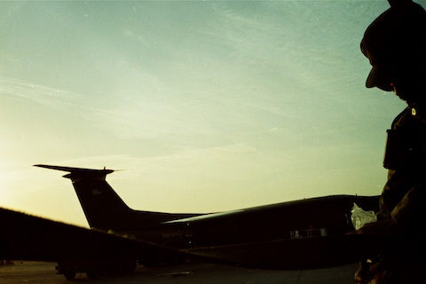 Dawn at the Saudi airbase.