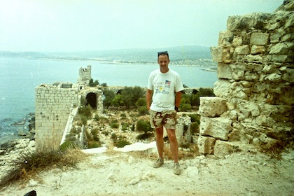 Me standing on the battlements.