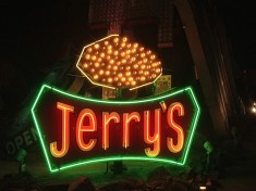 Restored Jerry's neon sign.