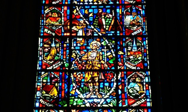 Reims Cathedral stained glass.