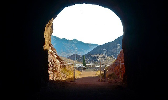 Last Railroad Trail tunnel before reaching Hoover Dam.