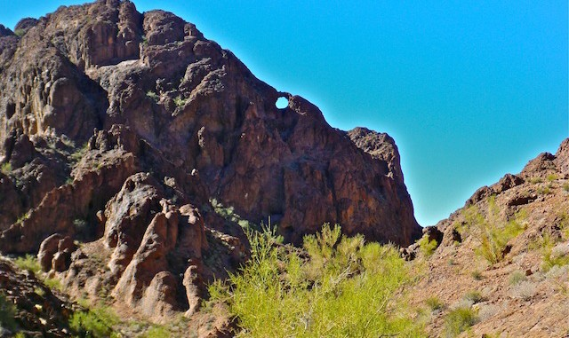 Unmapped arch above Hidden Valley Tank.