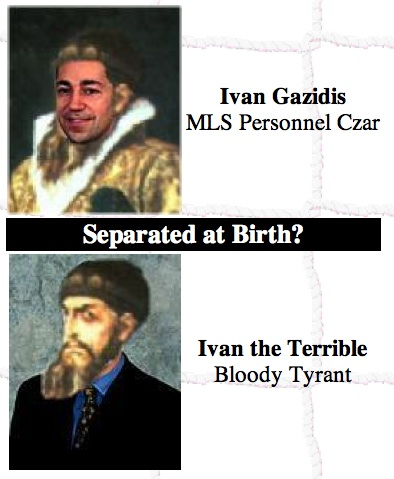 Separated at Birth? Ivan Gazidis, MLS Personnel Czar & Czar Ivan, Bloody Tyrant