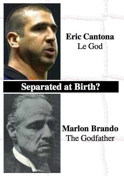 Separated at Birth? Eric Cantona, Le God & Marlon Brando, The Godfather
