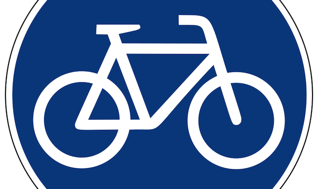 Blue Bike Sign