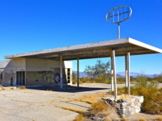 One of two gas stations in Desert Center, both abandoned since the early 70s.