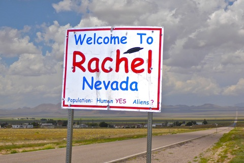 Welcome to Rachel, pop. 98. (Aliens were not included in the census.)