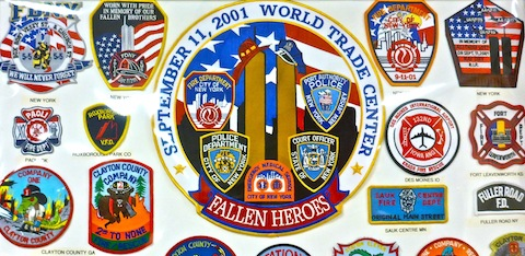 A small fraction of the many thousands of patches on display.