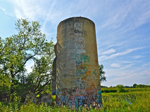 Graffiti on old silo near Horicon Marsh.