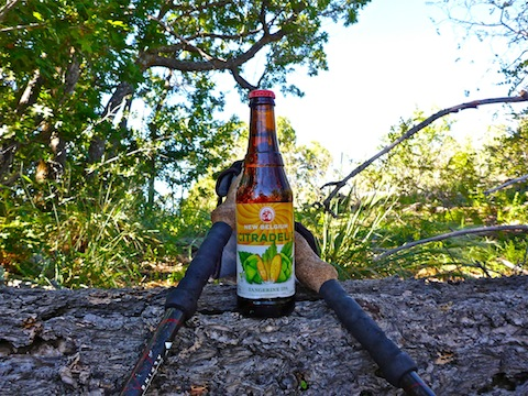 No hike is complete without beer.