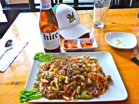 Na-D-Li Korean is not your typical post-hike chow, but it was hot and delicious.