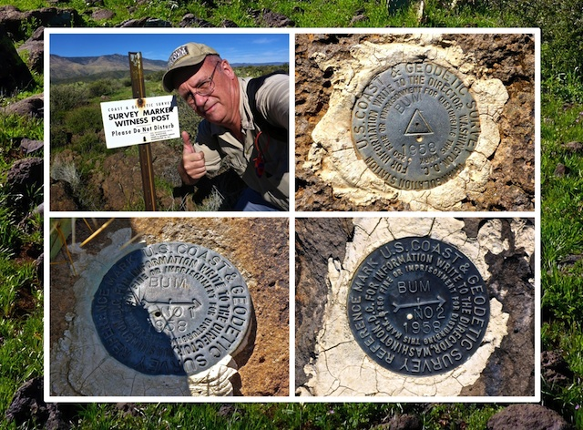 The Bum Benchmark triangulation station and reference marks.