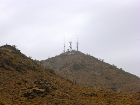 The antenna farm on top of North Mountain.
