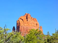 The Mitten, the first interesting rock formation on the Brins Mesa Loop.