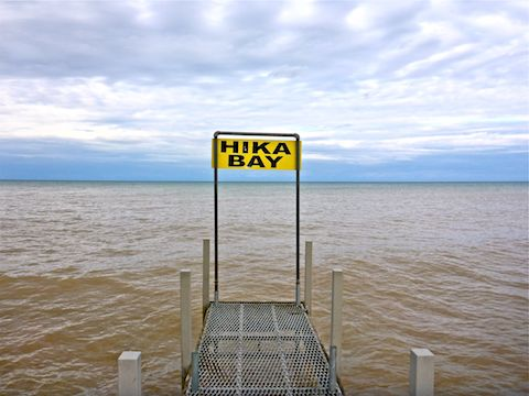 Hika Bay, on Lake Michigan, in Cleveland, Wisconsin.