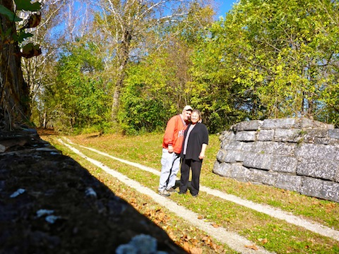 At the Antietam Aqueduct with my wife Bernie, without whom my hikes would not be possible.