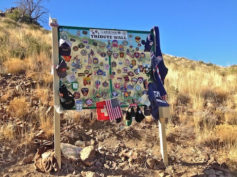 The tribute wall is located at the Yarnell Hill overlook.