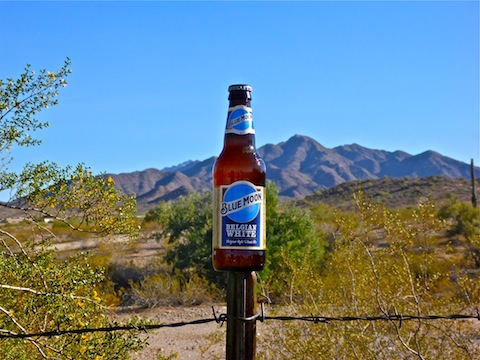 The trail runners failed to stock their tent with restorative beer, so I had to drink my own.