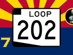Loop 202 South Mountain Freeway Sign Arizona Flag #7