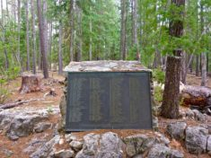 The Battle of Big Dry Wash memorial on Battleground Ridge, above East Clear Creek.